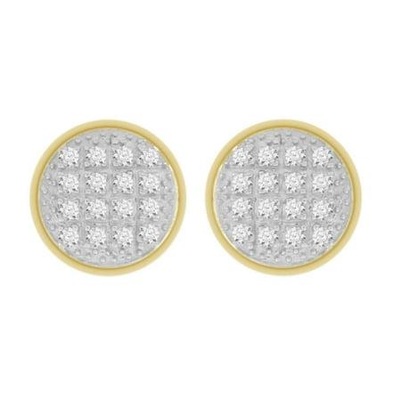 AV DIAMONDS VAD LLC 1/10 cttw Round Natural Diamond Dome Round Shape Unisex Stud Earrings