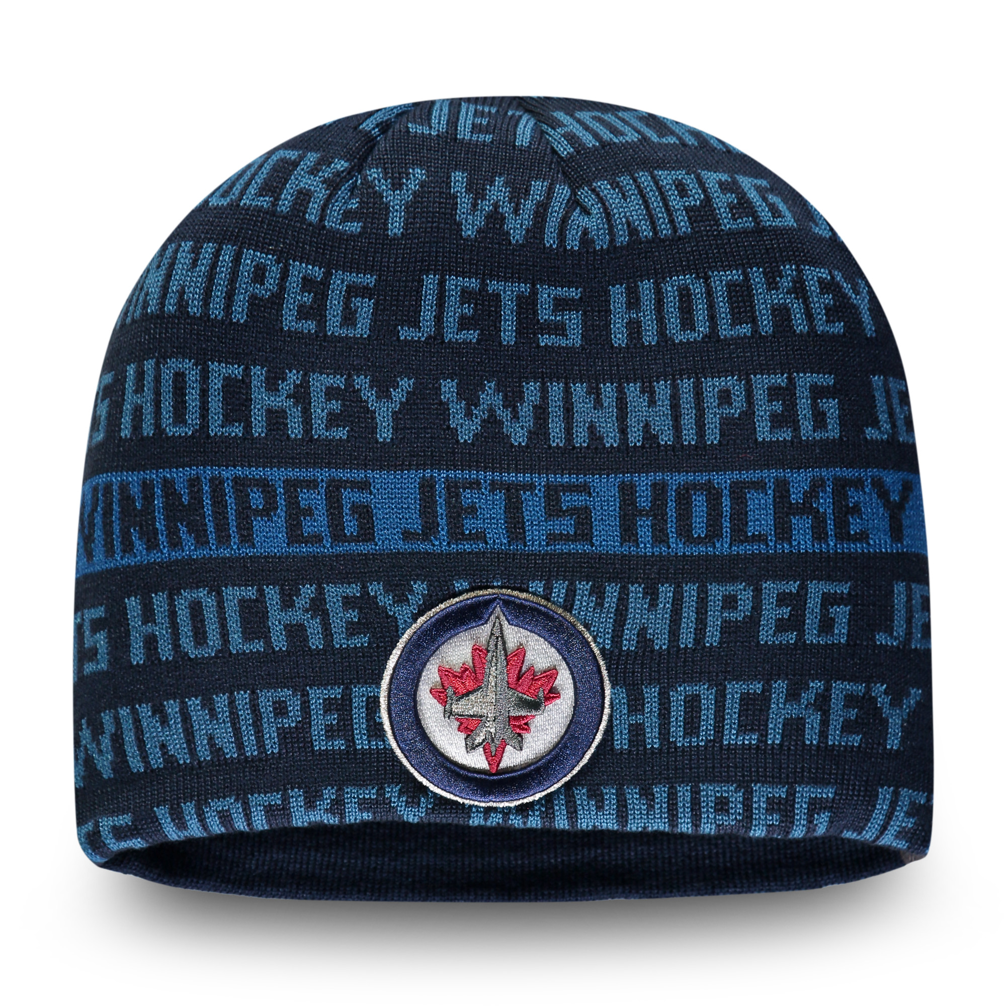 Winnipeg Jets Fanatics Branded Authentic Pro Rinkside Knit Beanie - Navy/Blue - OSFA
