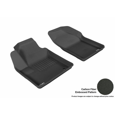 3D MAXpider 2007-2010 Chrysler Sebring Sedan Front Row All Weather Floor Liners in Black with Carbon Fiber Look
