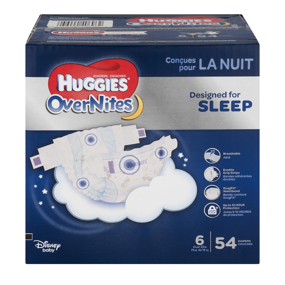 Huggies OverNites Diapers Size 6 - 54 CT