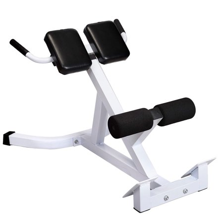 UBesGoo Roman Chair Back Extensions Machine, Adjustable 45° Hyperextension Bench Workout, for AB Abdominal Strengthen Training Exercise, Max Load Capacity