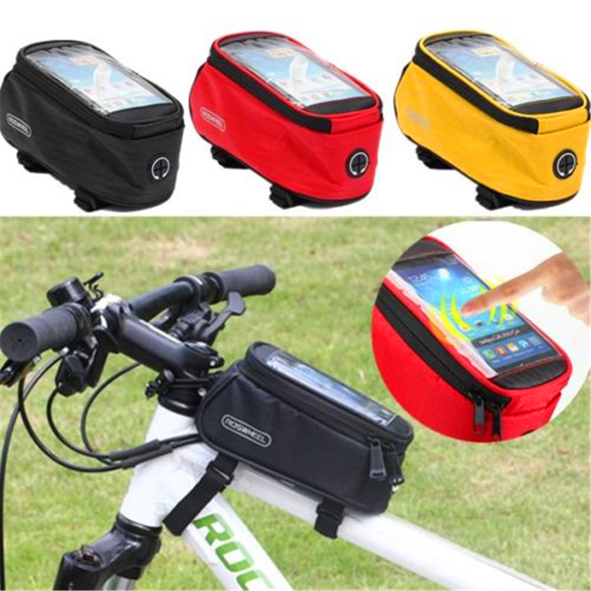 Universal Cycling Bike Bicycle Front Frame Bag Pouch Phone Holder Case