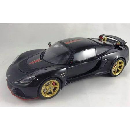 Lotus Exige S3 LF1 Motorsport in Black Resin Model Car in 1:18 Scale by GT Spirit ()