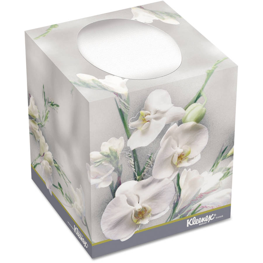 Kleenex Boutique Tissues, White, 95 sheets, (Pack of 36)