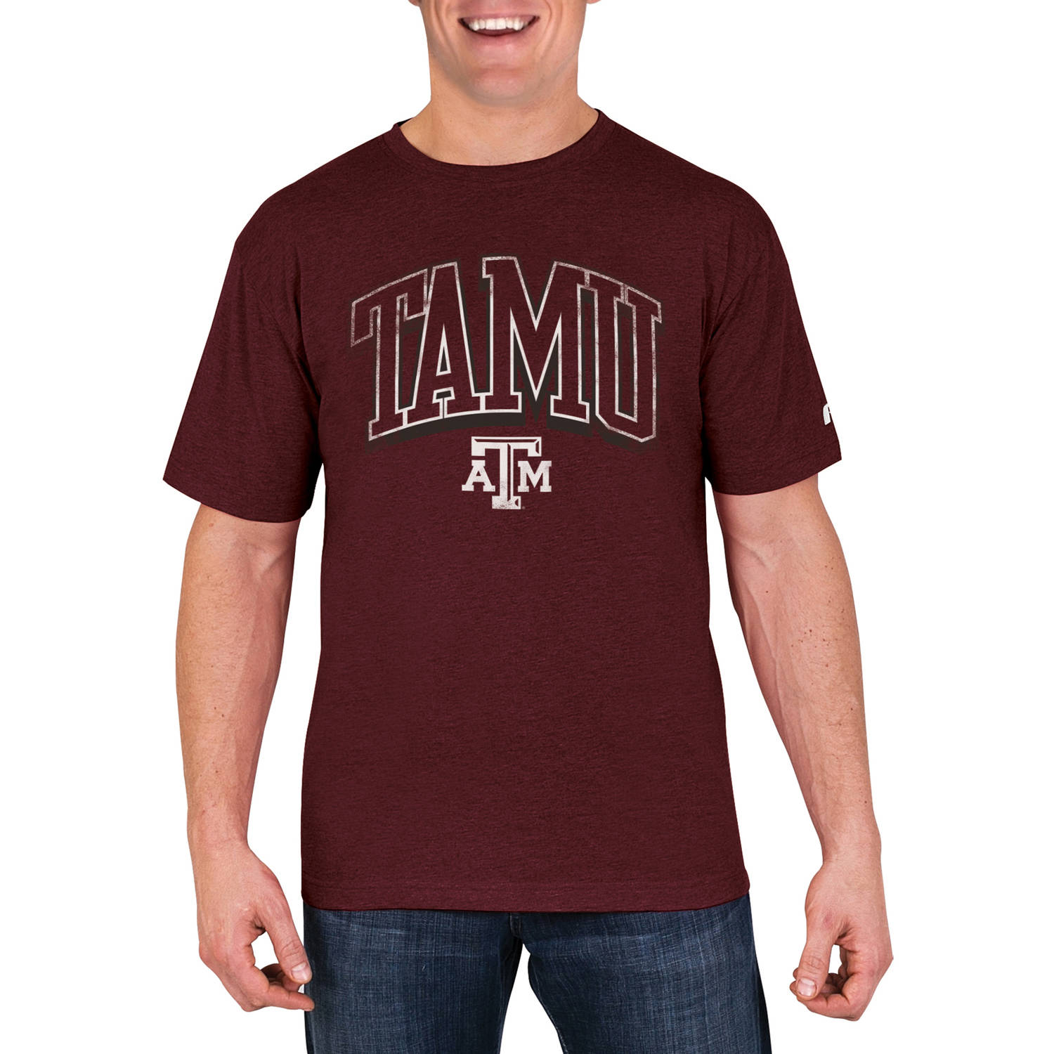 NCAA Texas A&M Aggies Men's Cotton/Poly Blend T-Shirt