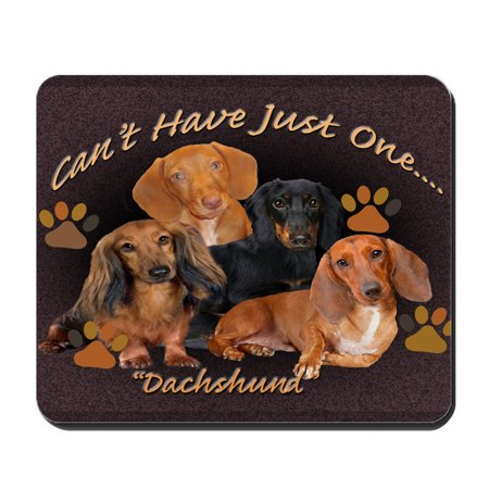 CafePress - Dachshund, Cant Have Just One Art - Non-slip Rubber Mousepad, Gaming Mouse (Dachshund Mouse Pad)