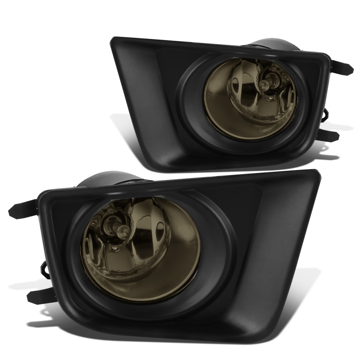 For 12-15 Toyota Tacoma Pair Front Bumper Fog Light/Lamps+Bezel Covers Smoked Lens 13 14 Left+Right