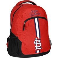 Forever Collectibles MLB St. Louis Cardinals Action Stripe Logo Backpack