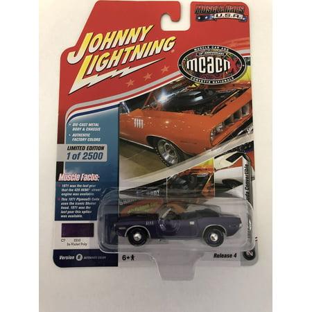 Johnny Lightning JLMC016 Muscle Car 1971 Plymouth Cuda Convertible VER B