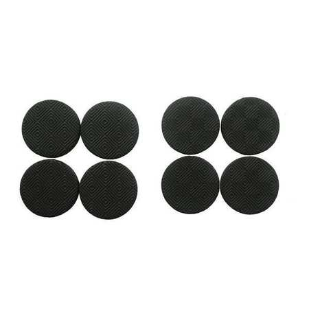 GGS_16605 Rubber Gripper Pads, Round, 1-1/2 In., PK 8