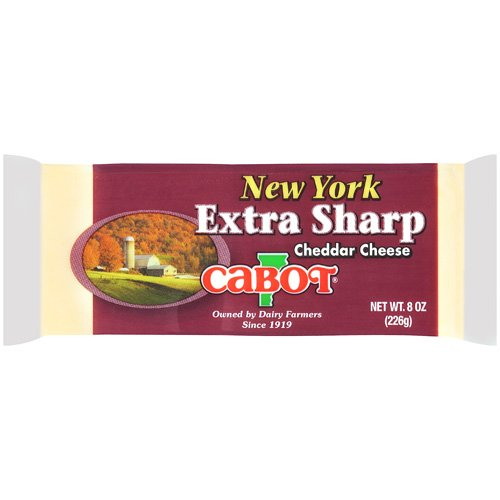 Cabot Vermont New York Extra Sharp Cheddar Cheese, 8 oz