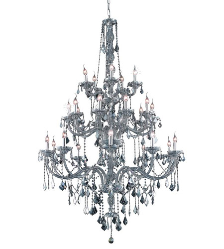 Pendants Porch 25 Light With Silver Shade (Grey) Crystal Royal Cut Silver Shade size 43 in 1500 Watts - World of Classic