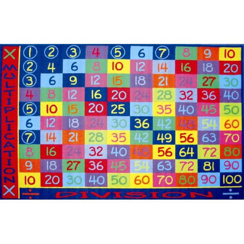 Fun Rugs Fun Time Multiplication Classroom Area Rug