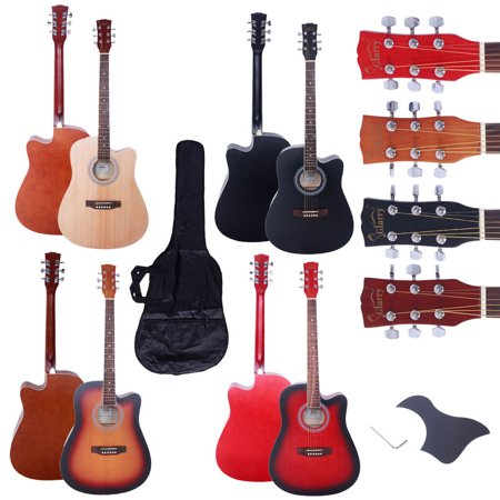 zimtown new 41 full size adult 6 strings cutaway folk acoustic guitar. Black Bedroom Furniture Sets. Home Design Ideas