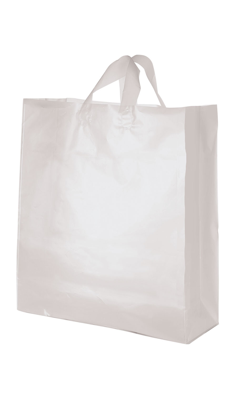 "f3ebce97b2 Jumbo Clear Frosted Plastic Shopping Bags - 16"" x 6"" x 19"" - Case of 100 -  Walmart.com"