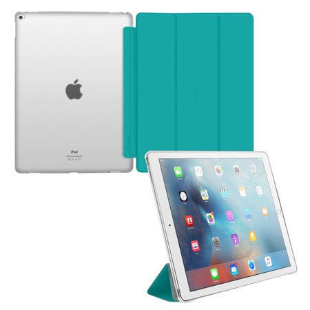iPad Pro Case - roocase Optigon 3D iPad Pro 12.9 Slim Shell Case Stand [Auto Sleep/Wake] for Apple iPad Pro 12.9-inch Tablet (Compatible with 2017 and 2015 Model) All-new iPad (Orzly Slim Rim Case)