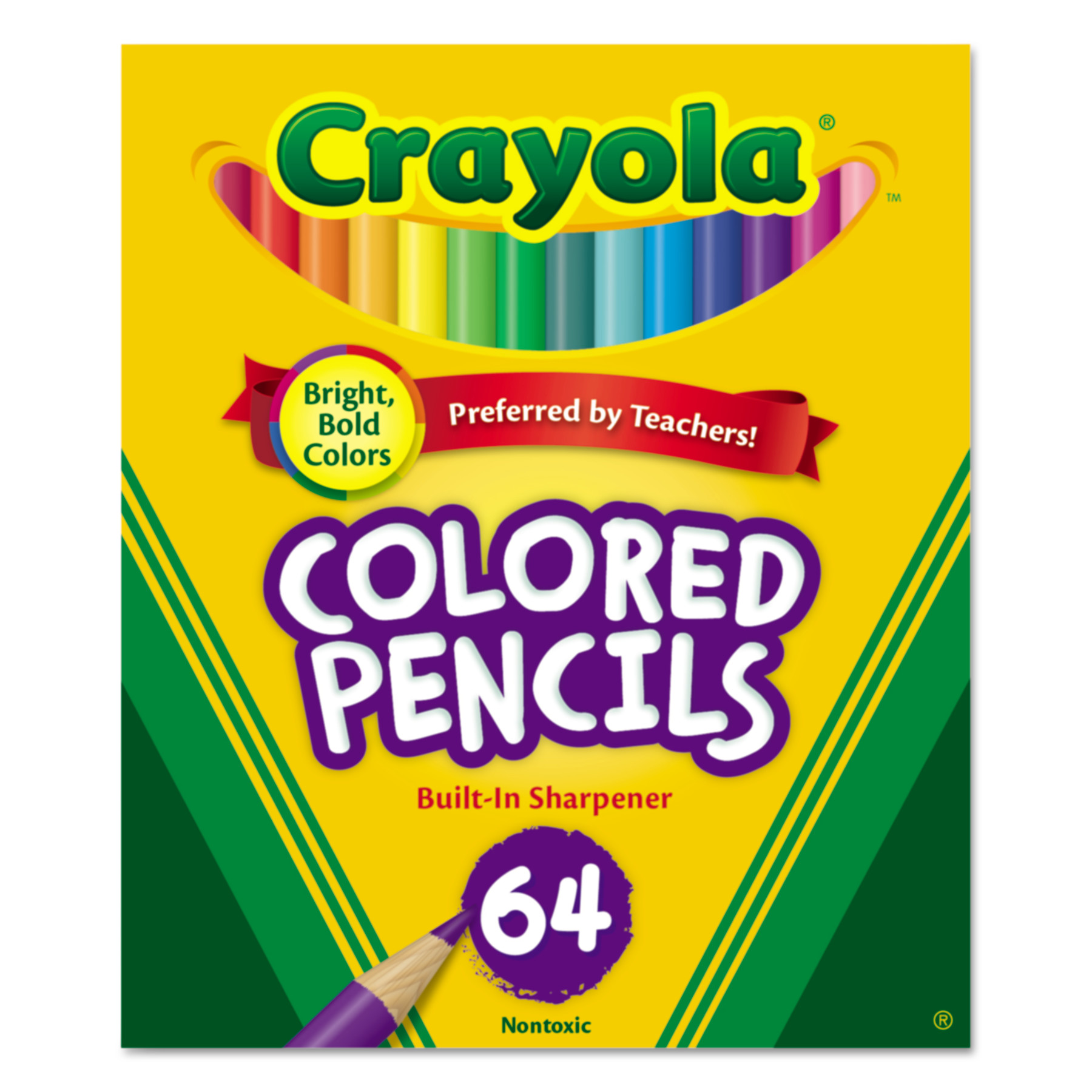 crayola colored woodcase pencil hb 33 mm assorted 64pack walmartcom