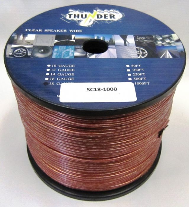 Avox SC181000 Clear Speaker Wire 18ga 1000ft