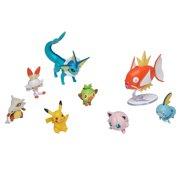 Pokemon Battle Action Figure Multi 8 Pack, Squirtle, Bulbasaur, Charmander, Pikachu, Meowth, Loudred, Jigglypuff, Psyduck