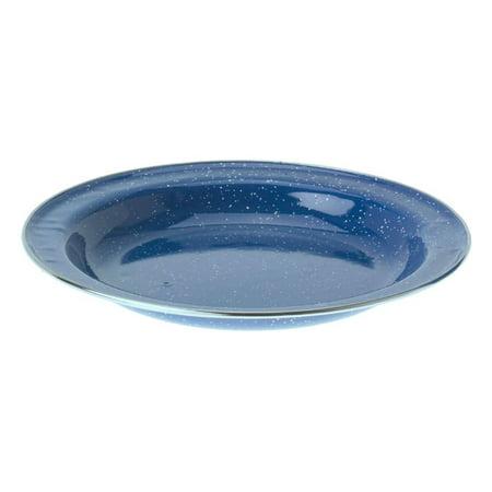 GSI Outdoors Pioneer Blue Enamelware Deep Plate