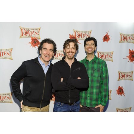 Brian DArcy James Christian Borle John Cariani At A Public Appearance For Something Rotten Cast Photo Op & Preview Little Shubert Theatre New York Ny February 17 2015 Photo By Jason SmithEverett Colle](Halloween Photo Op Board)