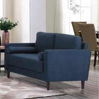 Hawthorne Collection Loveseat in Navy Blue