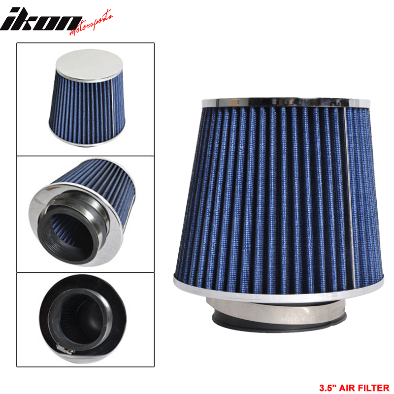 """3 Inches 3/"""" 76 mm Cold Air Intake Cone Filter Quality BLUE ge"""