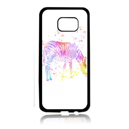 Watercolor Zebra Black Rubber Thin Cover for the Samsung Galaxy s6 Edge - Samsung Galaxy s6 Edge Accessories - Galaxy s6 Edge Case - s6 Edge TPU
