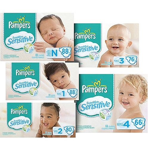 Pampers Swaddlers Sensitive Diapers Size 1, 88ct