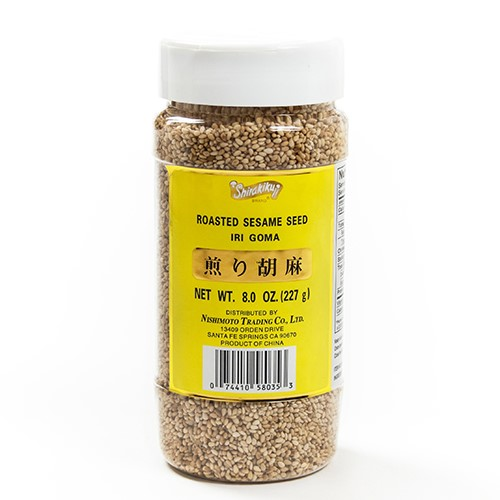 Roasted White Sesame Seeds (Iri Goma) 8 Oz by Shirakiku