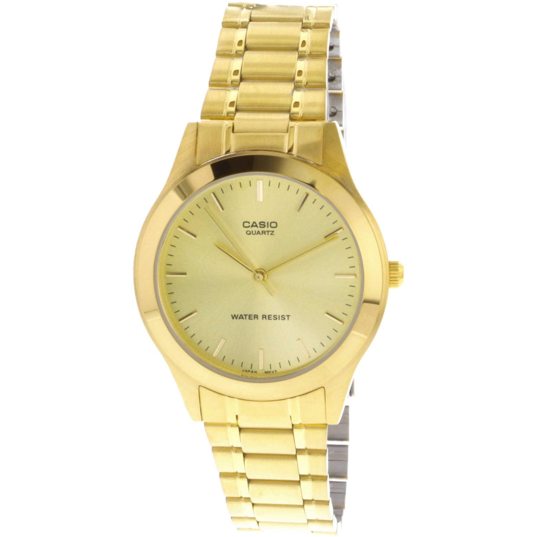 61a70d4a2 ... casio men s mtp1128n 9a white gold tone og quartz dress watch ...