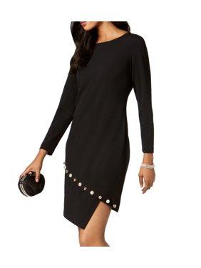 edab1115fbf54 Product Image MSK Womens Medium Petite Asymmetric Hem Sheath Dress