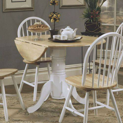 Coaster Company Natural and White Dining Table