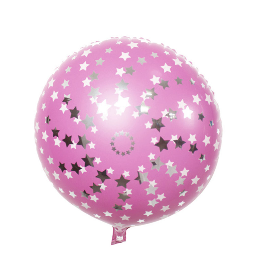 Unique Bargains Birthday Wedding Foil Star Pattern Round Inflation Balloon Pink 18 Inches 4pcs - image 1 de 4