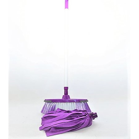 Smart Home 2 in 1 Mop and Brush Set - Purple