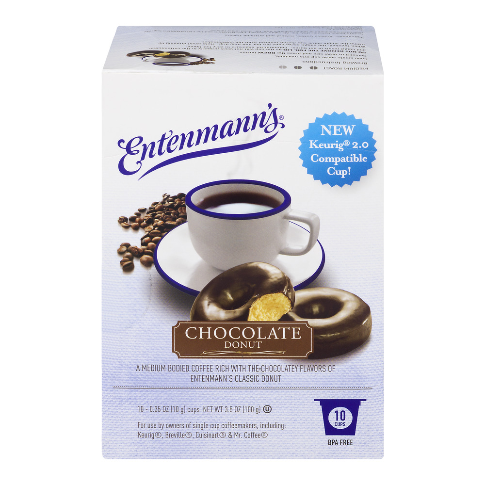 Entenmann's Chocolate Donut Single Serve 10 Count (Pack of 4)