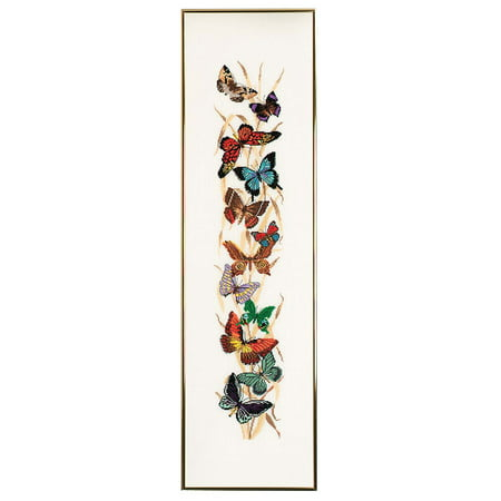 Bell Pull Cross Stitch Pattern (Eva Rosenstand® Butterflies Bell Pull Counted Cross-Stitch Kit )