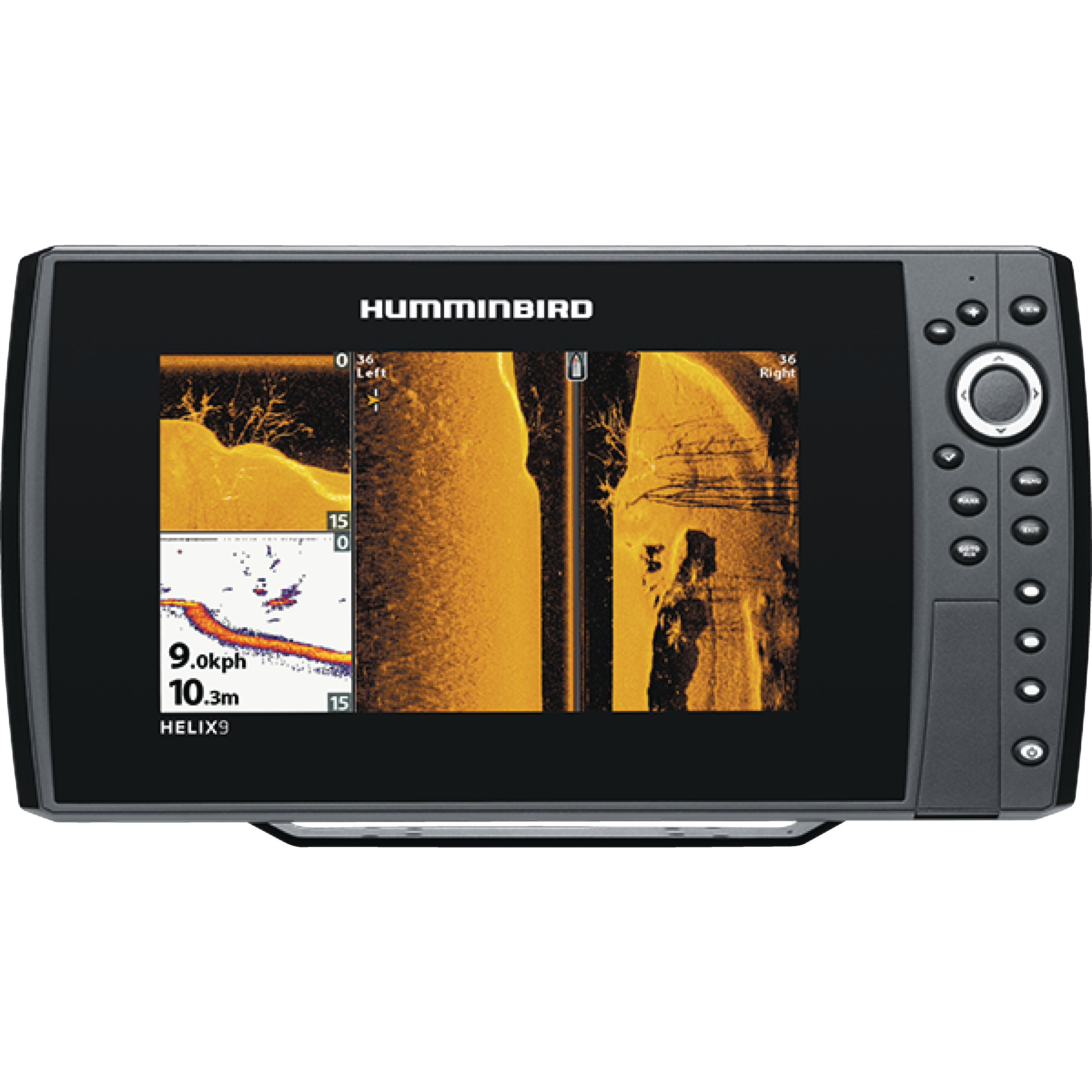 "Humminbird 409950-1 HELIX 9 SI GPS Sonar Fishfinder & Chartplotter with Down & Side Imaging & 9"" HD Display"