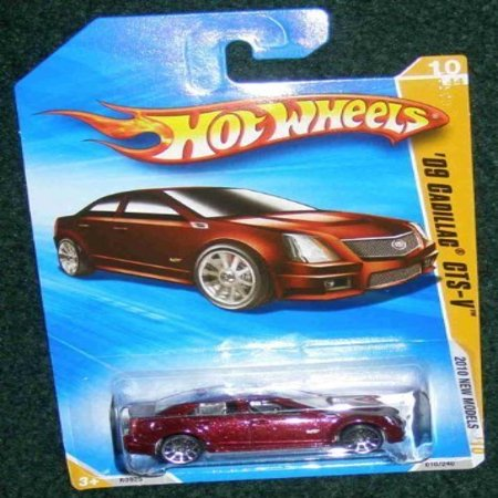 Hot Wheels 2010 New Models 10 Of 44 Burgundy Red 09 Cadillac Cts V