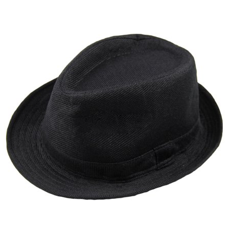 Fashion Men Women Casual Fedora Hat Pinched Crown Beach Sun Cap Panama Hat Unisex - image 1 of 7