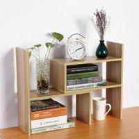 HURRISE DIY Desk Storage Rack,Display Shelf Organizer Counter Top Bookcase
