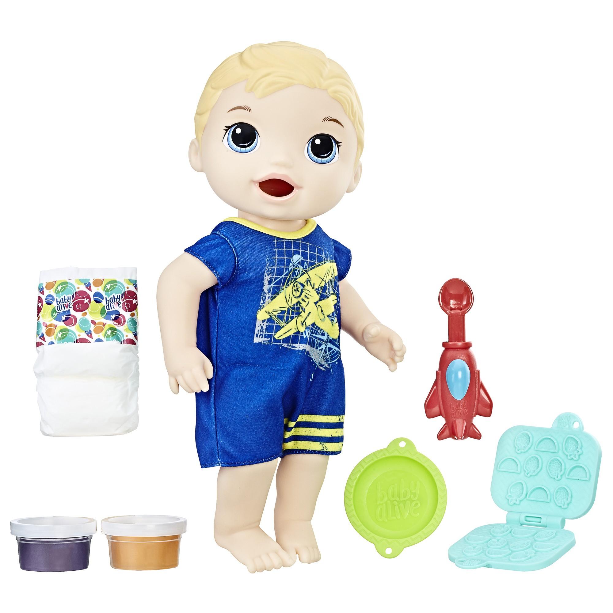 Baby Alive Super Snacks Snackin' Luke - Blonde Hair