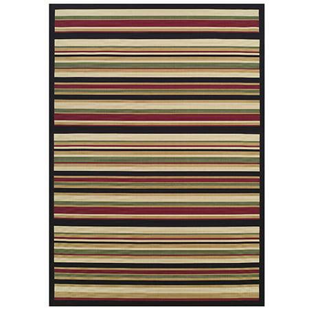 60 X 90 Tributary Stripe Heat Set Polypropylene Indoor Outdoor