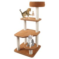 Penn-Plax - Staircase Activity Center & Cat Lounger w/Removeable Faux Suede Covers