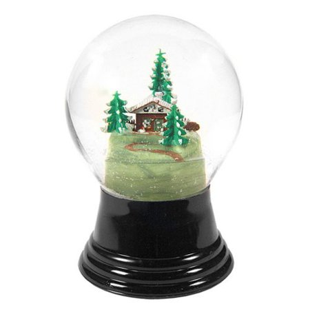 Medium House with Tree Snow Globe