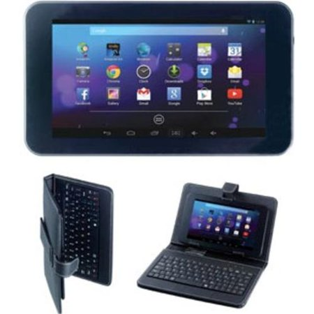 Get Craig Electronics CMP765-BUN Tablet PC with Case and Keyboard – All Winner A4 1.2 GHz Dual-Core Processor – 512 MB DDR3 RAM – 4 GB Flash Memory – 7.0-inch Display – Android 4.4 KitKat – Black Before Special Offer Ends
