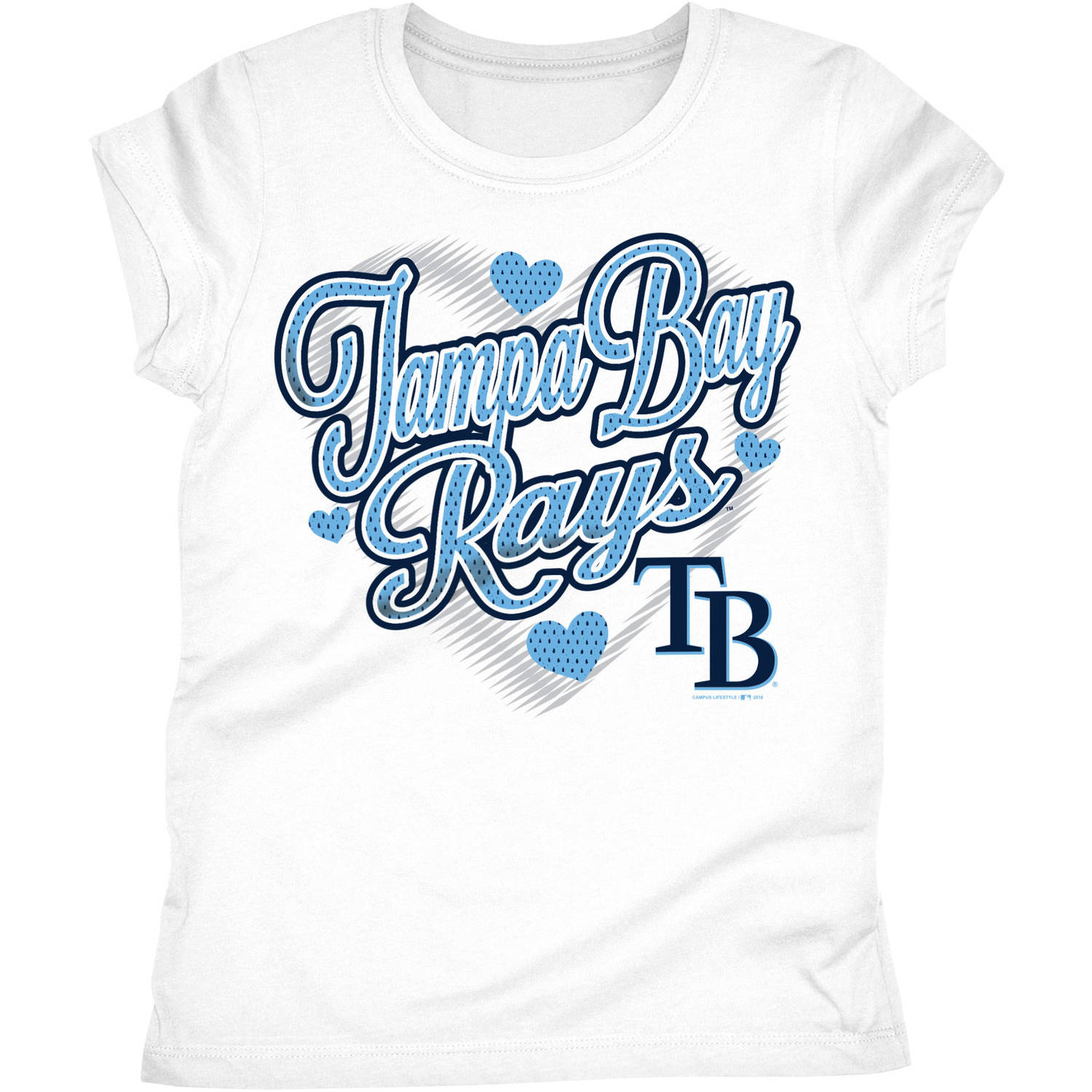 Tampa Bay Rays Girls Short Sleeve Graphic Tee