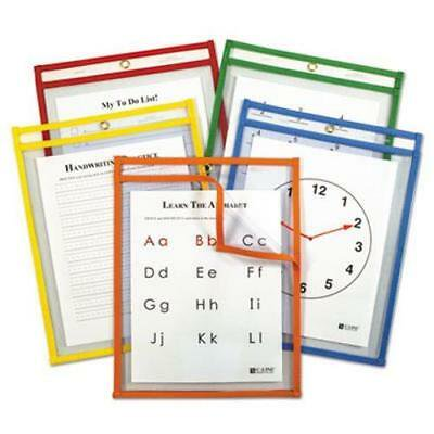 C-line Reusable Dry Erase Pockets, Assorted Primary Colors, 5 Pockets (CLI42630)](Dry Erase Pockets)