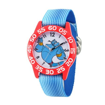 Disney Aladdin Genie Boys' Red Plastic Time Teacher Watch, 1-Pack (Boy Genie)