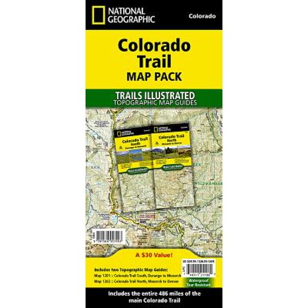 National Geographic Trails Illustrated Map: Colorado Trail [Map Pack Bundle] - Folded